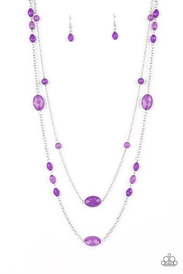 Day Trip Delights - Purple - Paparazzi Necklace Image