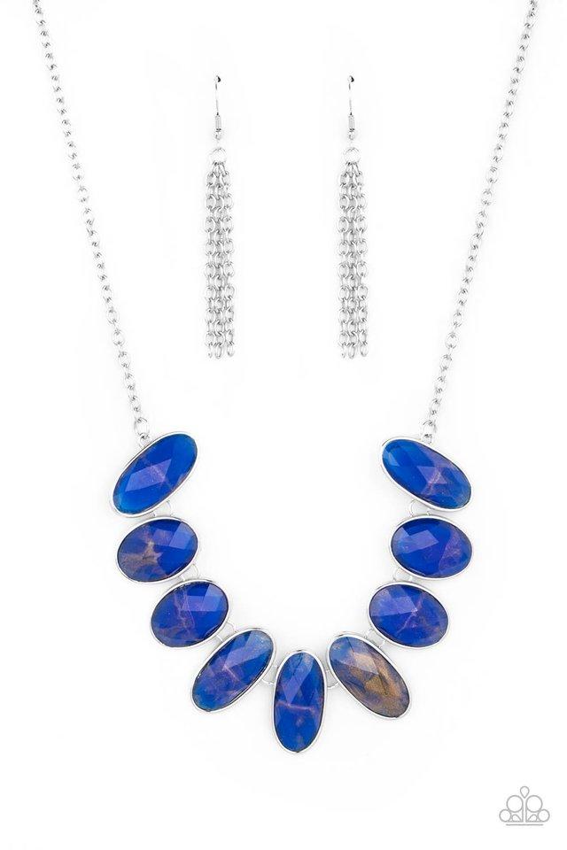 Elliptical Episode - Blue - Paparazzi Necklace Image
