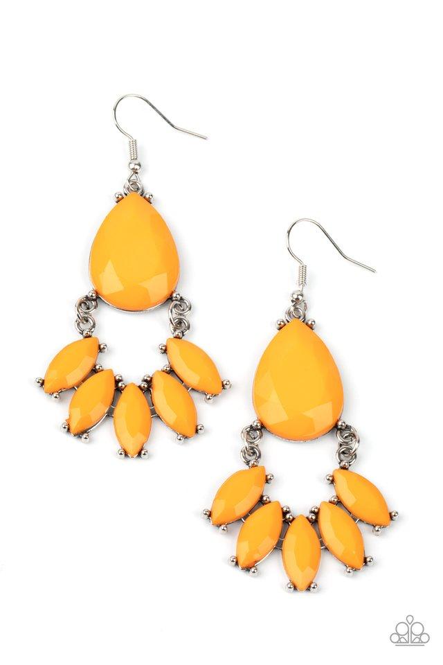 POWERHOUSE Call - Orange - Paparazzi Earring Image