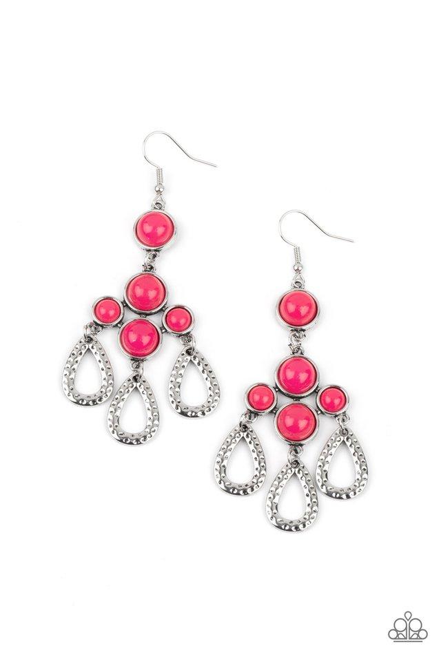 Mediterranean Magic - Pink - Paparazzi Earring Image