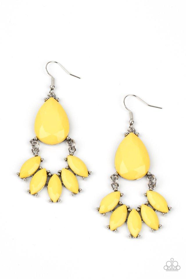 POWERHOUSE Call - Yellow - Paparazzi Earring Image