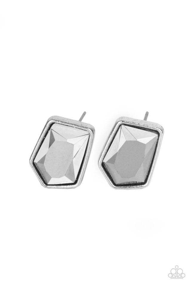 Indulge Me - Silver - Paparazzi Earring Image
