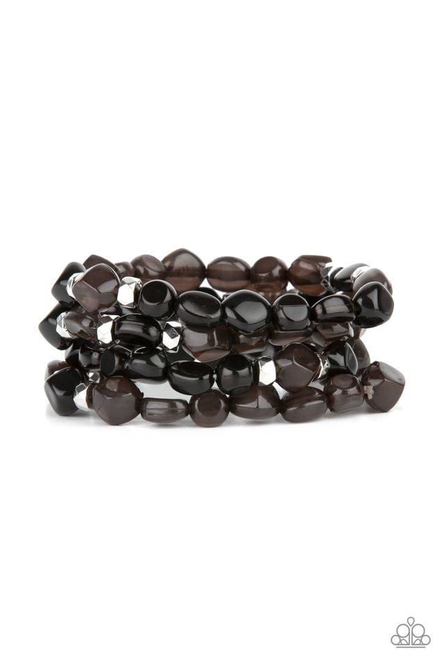 Nice GLOWING! - Black - Paparazzi Bracelet Image