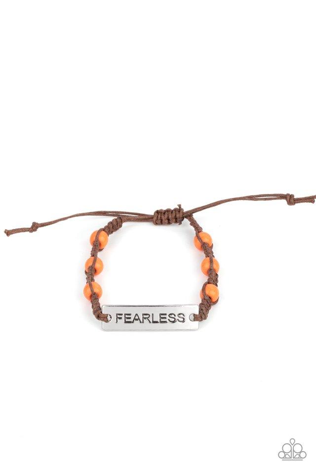 Conversation Piece - Orange - Paparazzi Bracelet Image