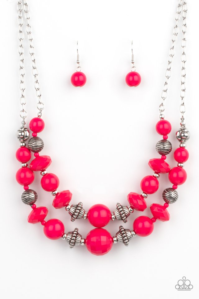 Upscale Chic - Pink - Paparazzi Necklace Image