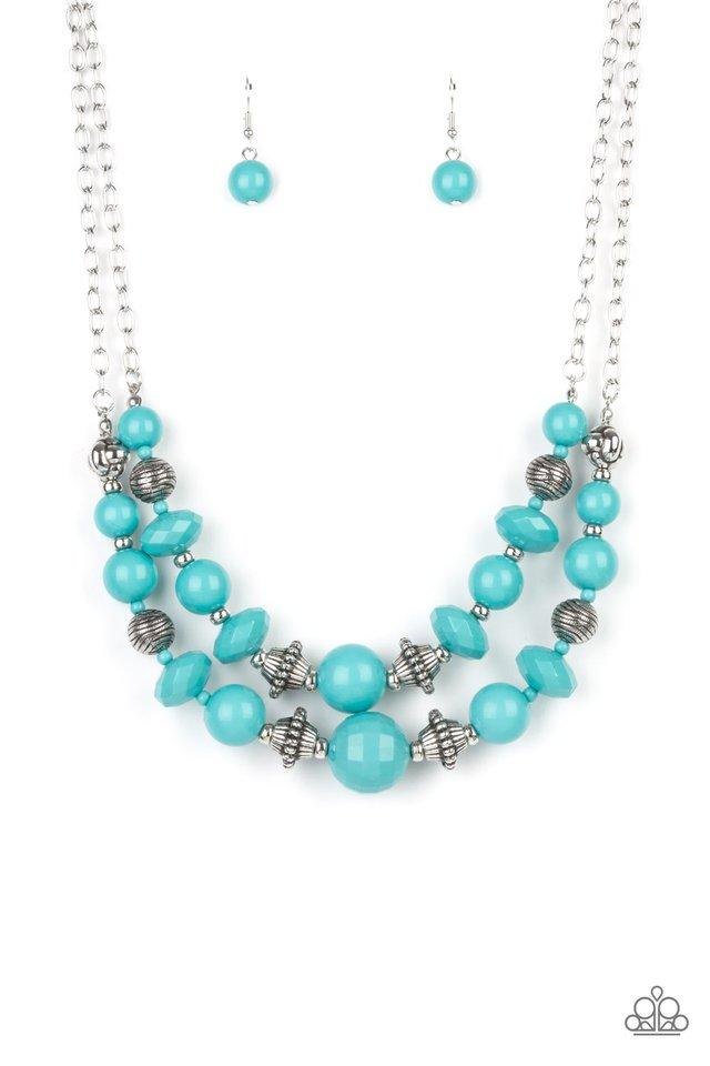 Upscale Chic - Blue - Paparazzi Necklace Image