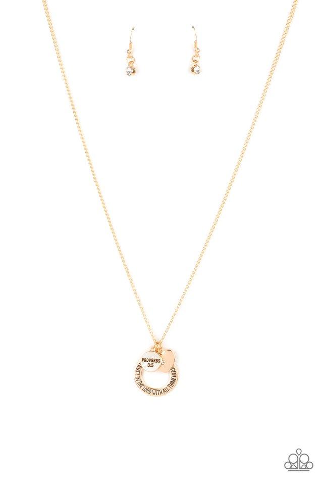 Full of Faith - Gold - Paparazzi Necklace Image
