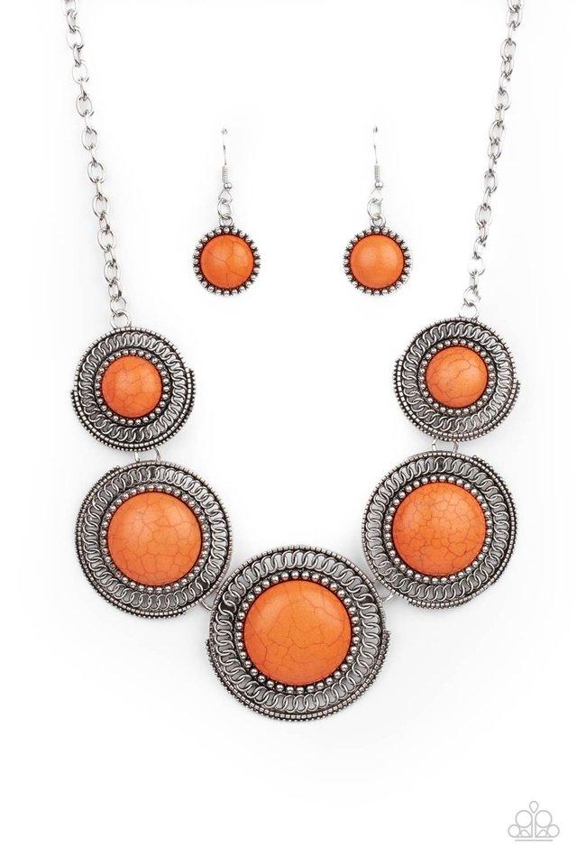 She Went West - Orange - Paparazzi Necklace Image