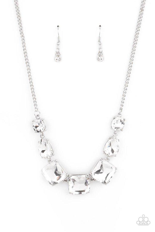 Unfiltered Confidence - White - Paparazzi Necklace Image