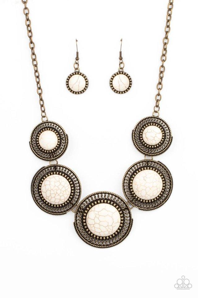 She Went West - Brass - Paparazzi Necklace Image