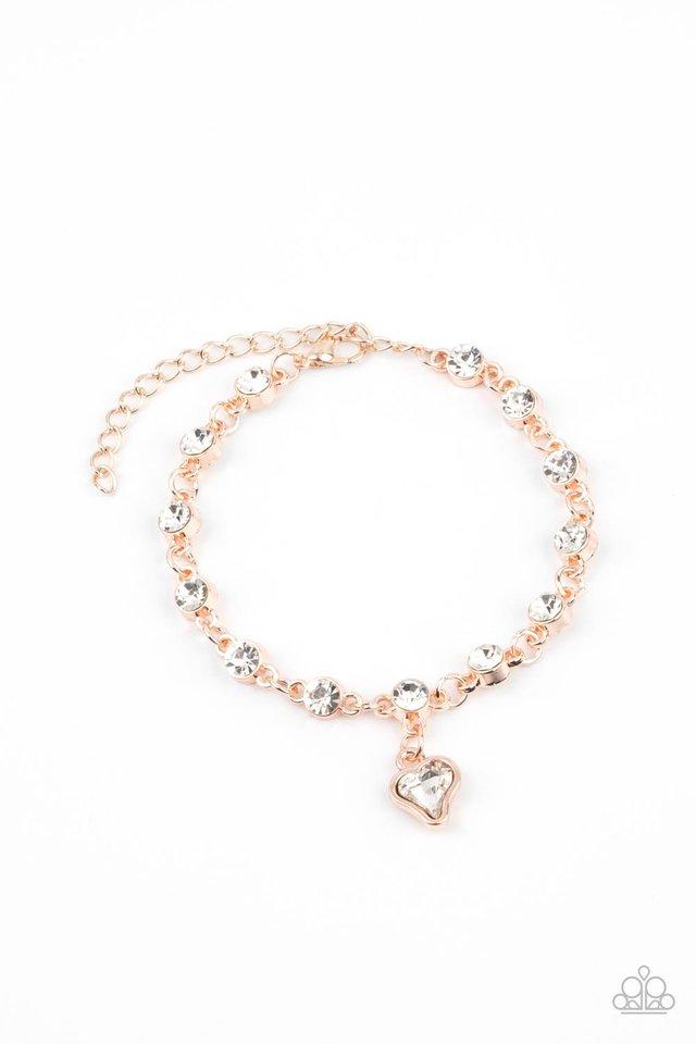 Sweet Sixteen - Rose Gold - Paparazzi Bracelet Image