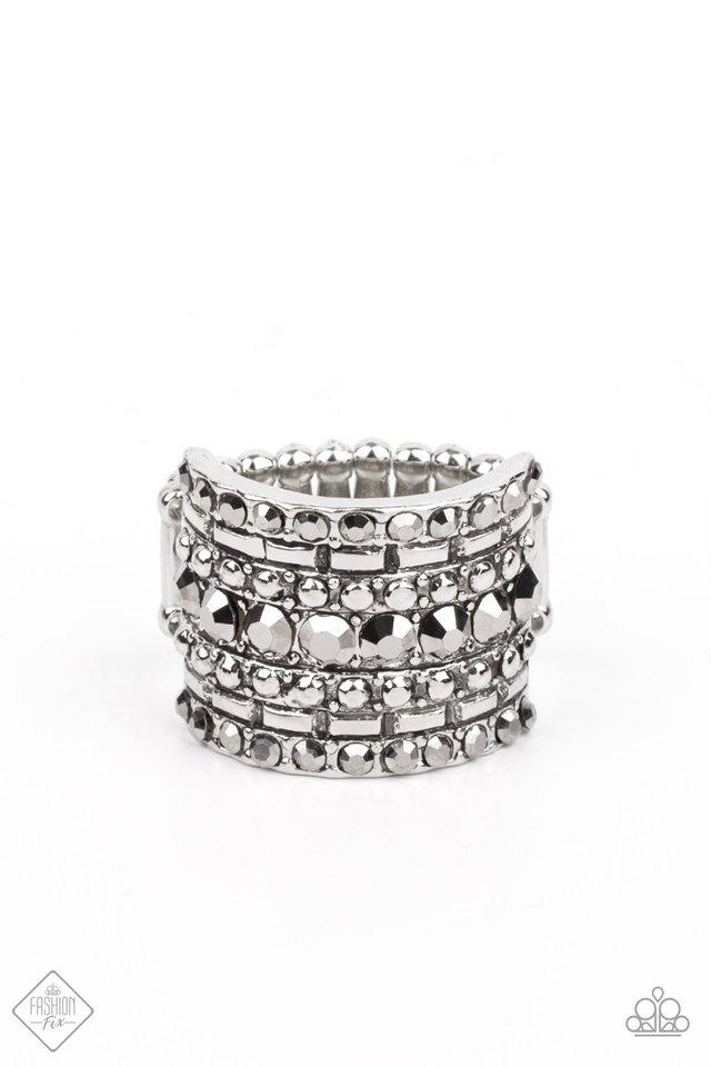 Target Locked - Silver - Paparazzi Ring Image