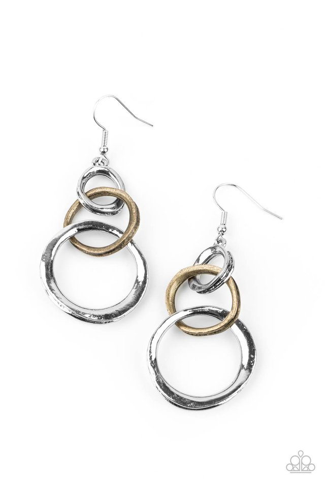 Harmoniously Handcrafted - Silver - Paparazzi Earring Image