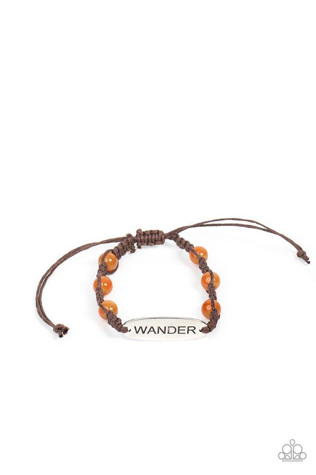 Roaming For Days - Orange - Paparazzi Bracelet Image