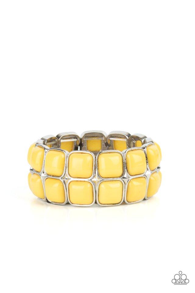 Double The DIVA-ttitude - Yellow - Paparazzi Bracelet Image