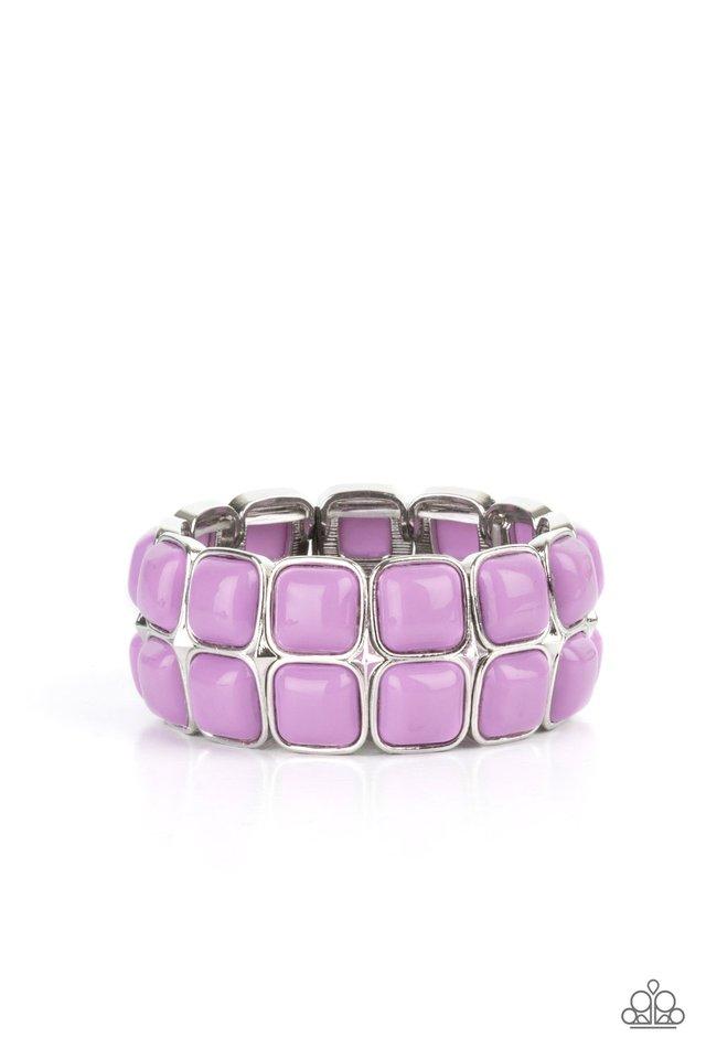 Double The DIVA-ttitude - Purple - Paparazzi Bracelet Image