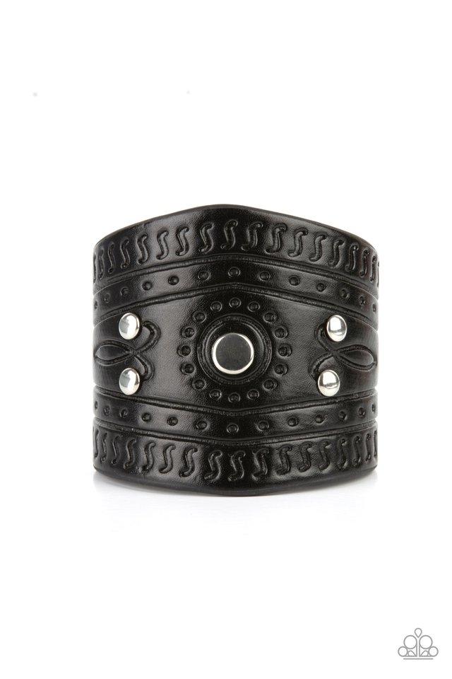 Orange County - Black - Paparazzi Bracelet Image