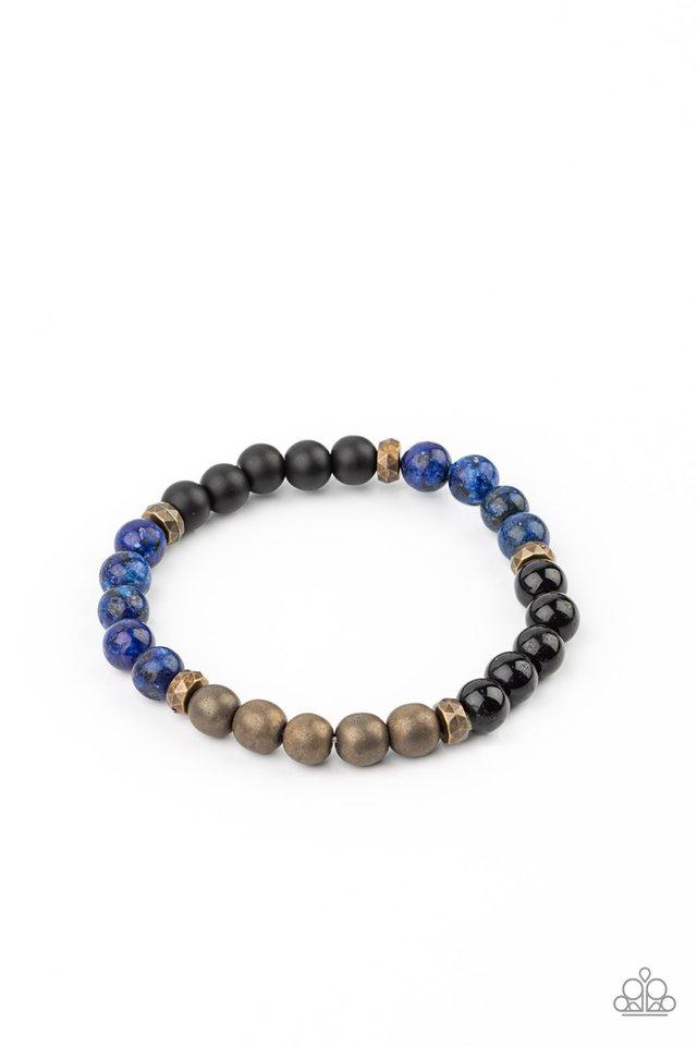 Petrified Powerhouse - Blue - Paparazzi Bracelet Image