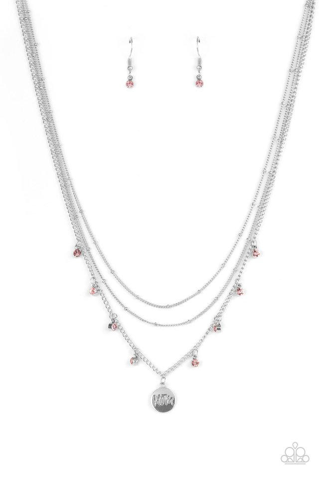 Ode To Mom - Pink - Paparazzi Necklace Image