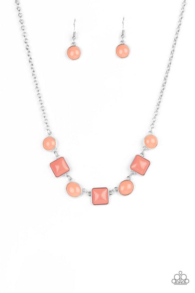 Trend Worthy - Orange - Paparazzi Necklace Image