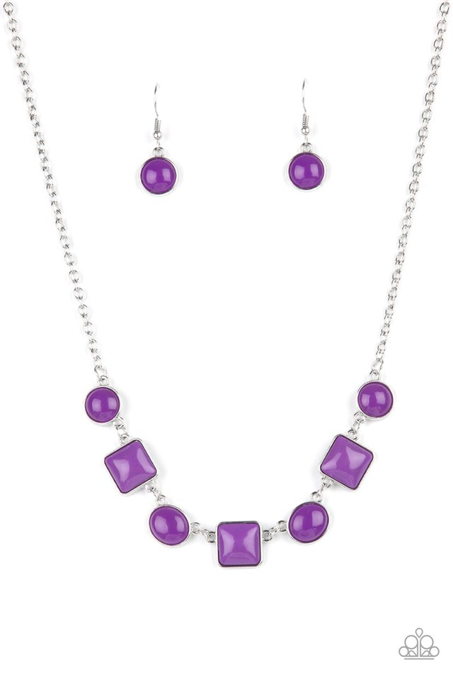 Trend Worthy - Purple - Paparazzi Necklace Image