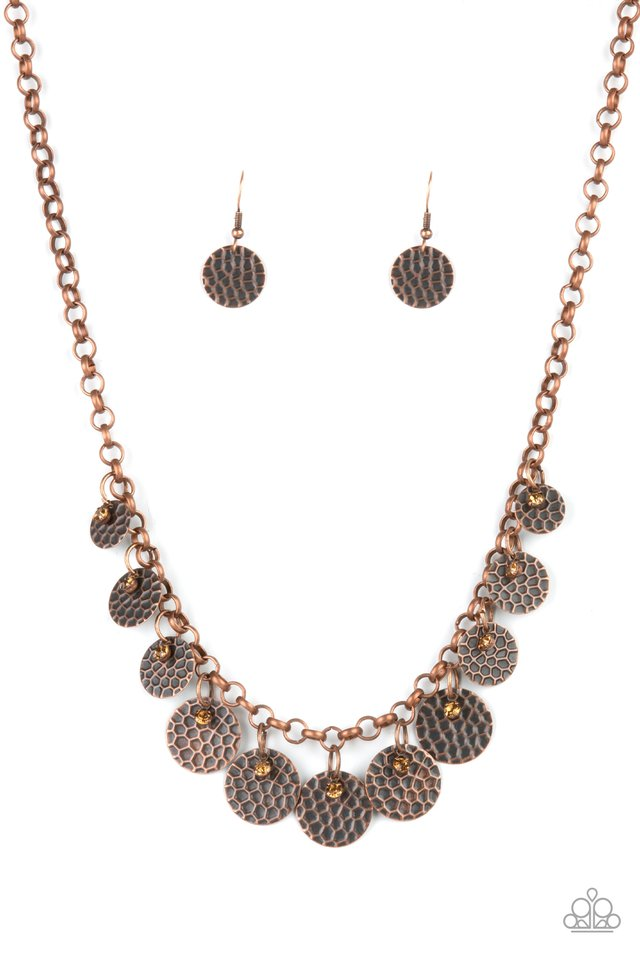 Delightfully Dappled - Copper - Paparazzi Necklace Image