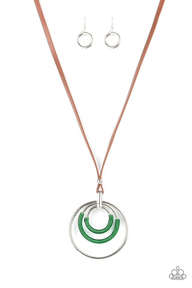 Hypnotic Happenings - Green - Paparazzi Necklace Image