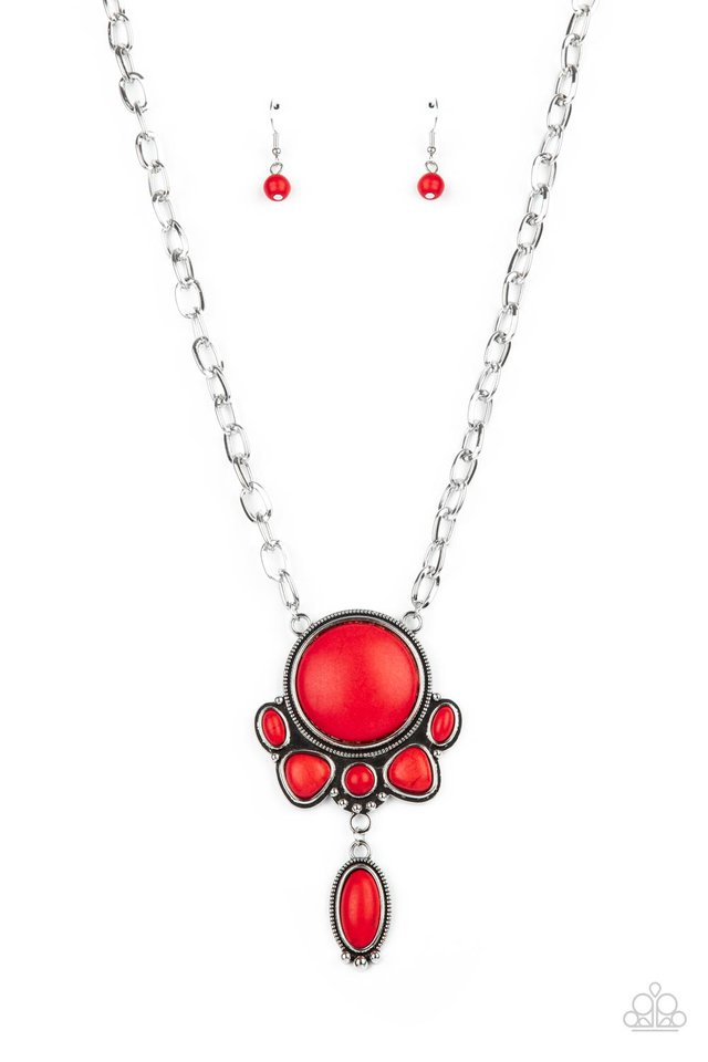 Geographically Gorgeous - Red - Paparazzi Necklace Image