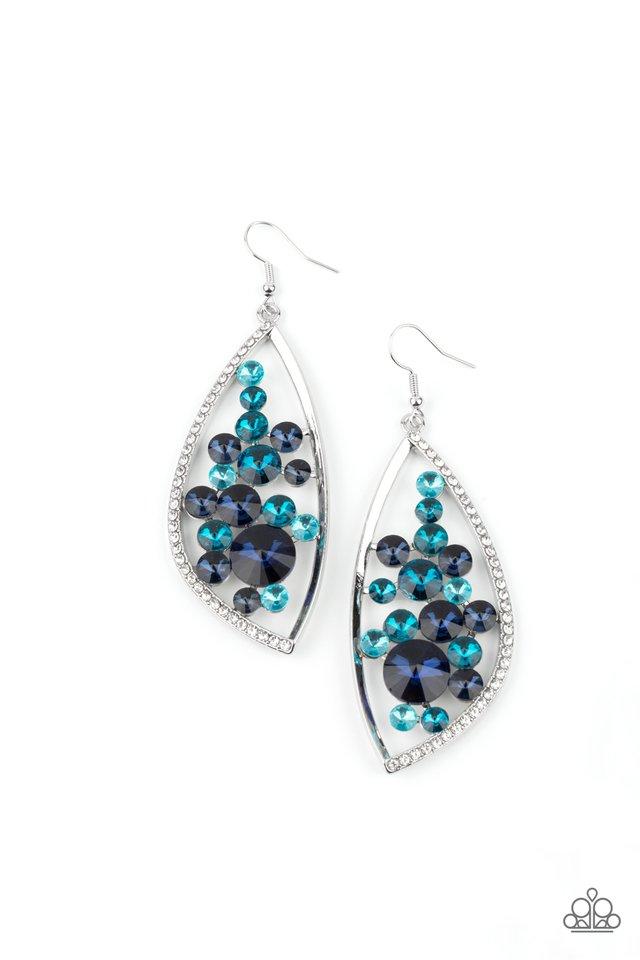 Sweetly Effervescent - Blue - Paparazzi Earring Image