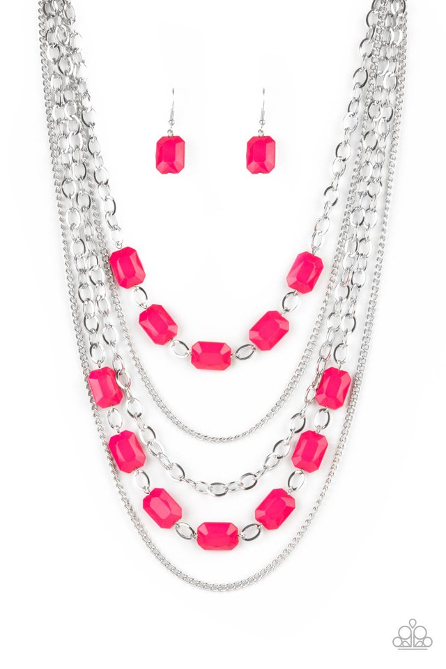 Standout Strands - Pink - Paparazzi Necklace Image