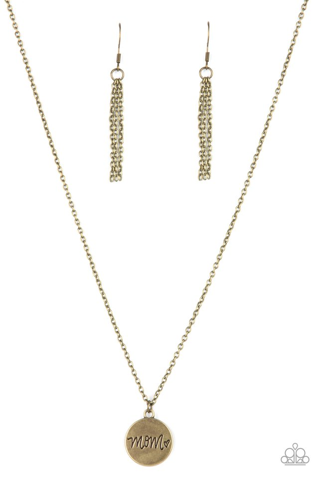 The Cool Mom - Brass - Paparazzi Necklace Image