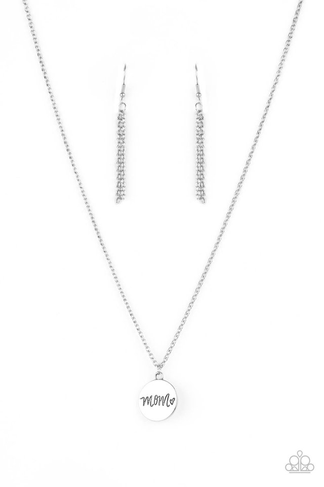 The Cool Mom - Silver - Paparazzi Necklace Image