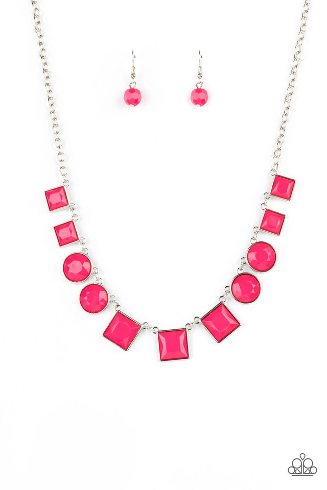 Tic Tac TREND - Pink - Paparazzi Necklace Image