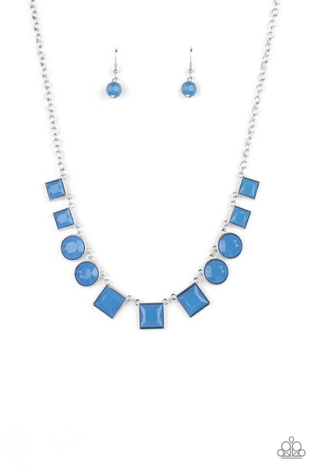 Tic Tac TREND - Blue - Paparazzi Necklace Image
