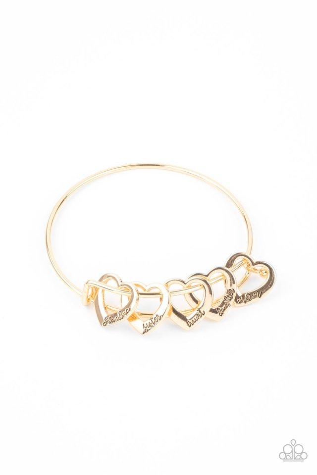 A Charmed Society - Gold - Paparazzi Bracelet Image