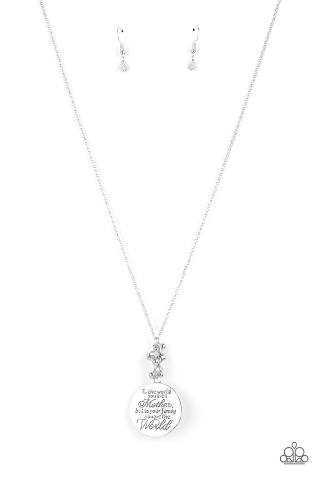 Maternal Blessings - White - Paparazzi Necklace Image