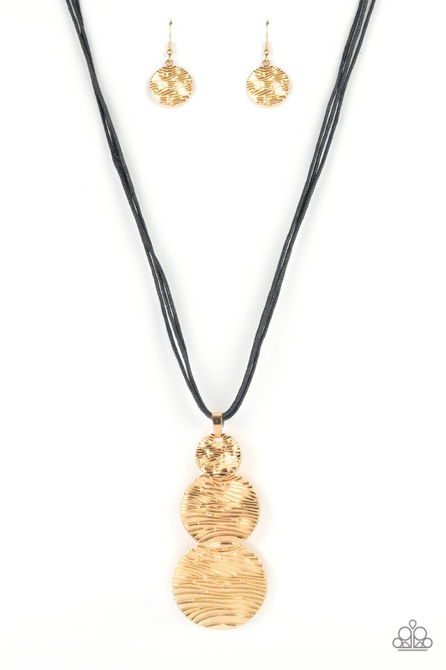 Circulating Shimmer - Black - Paparazzi Necklace Image