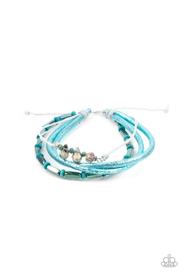 Holographic Hike - Blue - Paparazzi Bracelet Image