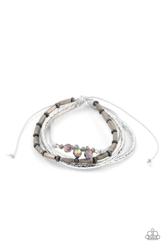 Holographic Hike - Silver - Paparazzi Bracelet Image