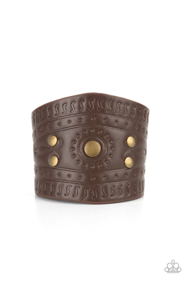 Orange County - Brass - Paparazzi Bracelet Image