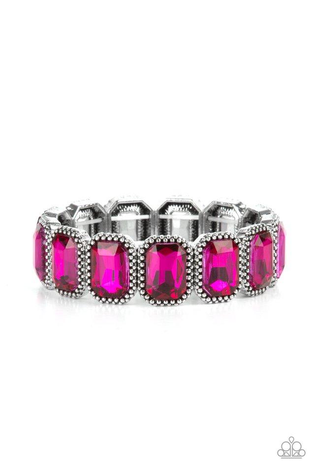 Studded Smolder - Pink - Paparazzi Bracelet Image