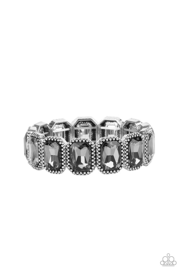 Studded Smolder - Silver - Paparazzi Bracelet Image