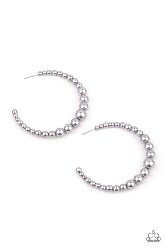 Glamour Graduate - Silver - Paparazzi Earring Image