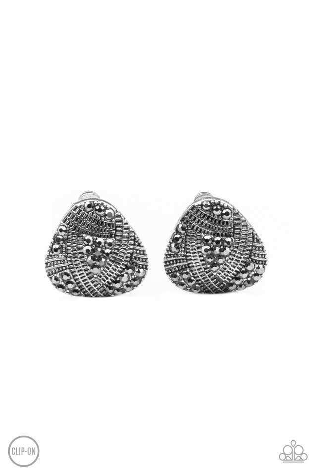 Gorgeously Galleria - Silver - Paparazzi Earring Image