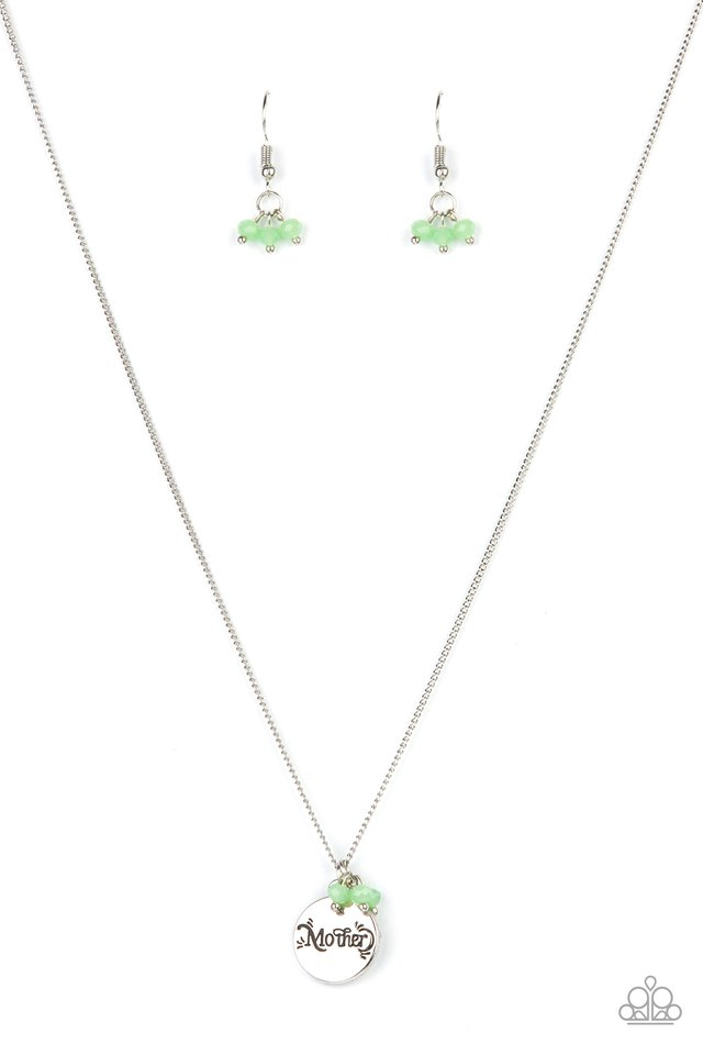 Warm My Heart - Green - Paparazzi Necklace Image
