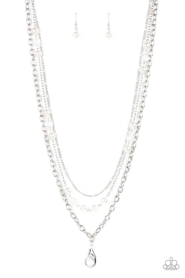 GLEAM Work - White - Paparazzi Necklace Image