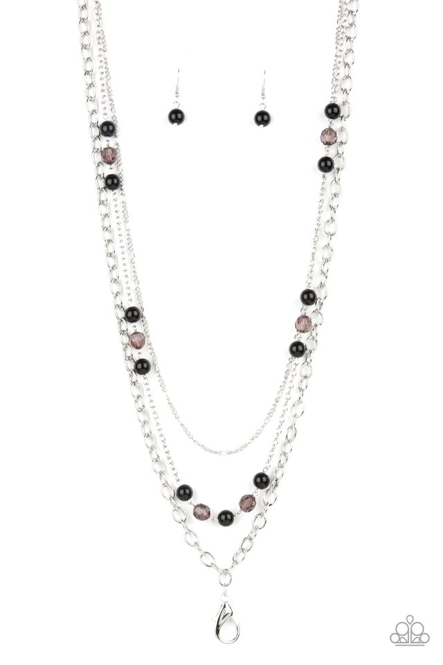 GLEAM Work - Black - Paparazzi Necklace Image