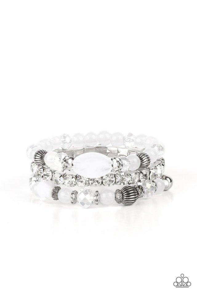 Ethereal Etiquette - White - Paparazzi Bracelet Image