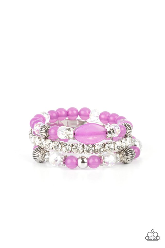 Ethereal Etiquette - Purple - Paparazzi Bracelet Image