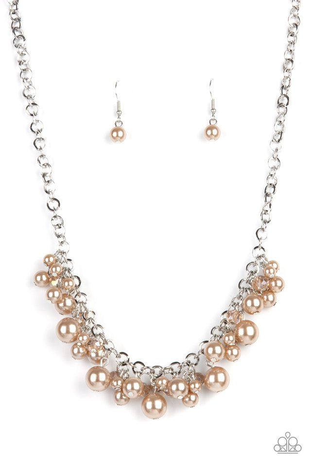 Positively PEARL-escent - Brown - Paparazzi Necklace Image